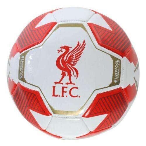 Liverpool FC White & Red Size 5 Soccer Ball