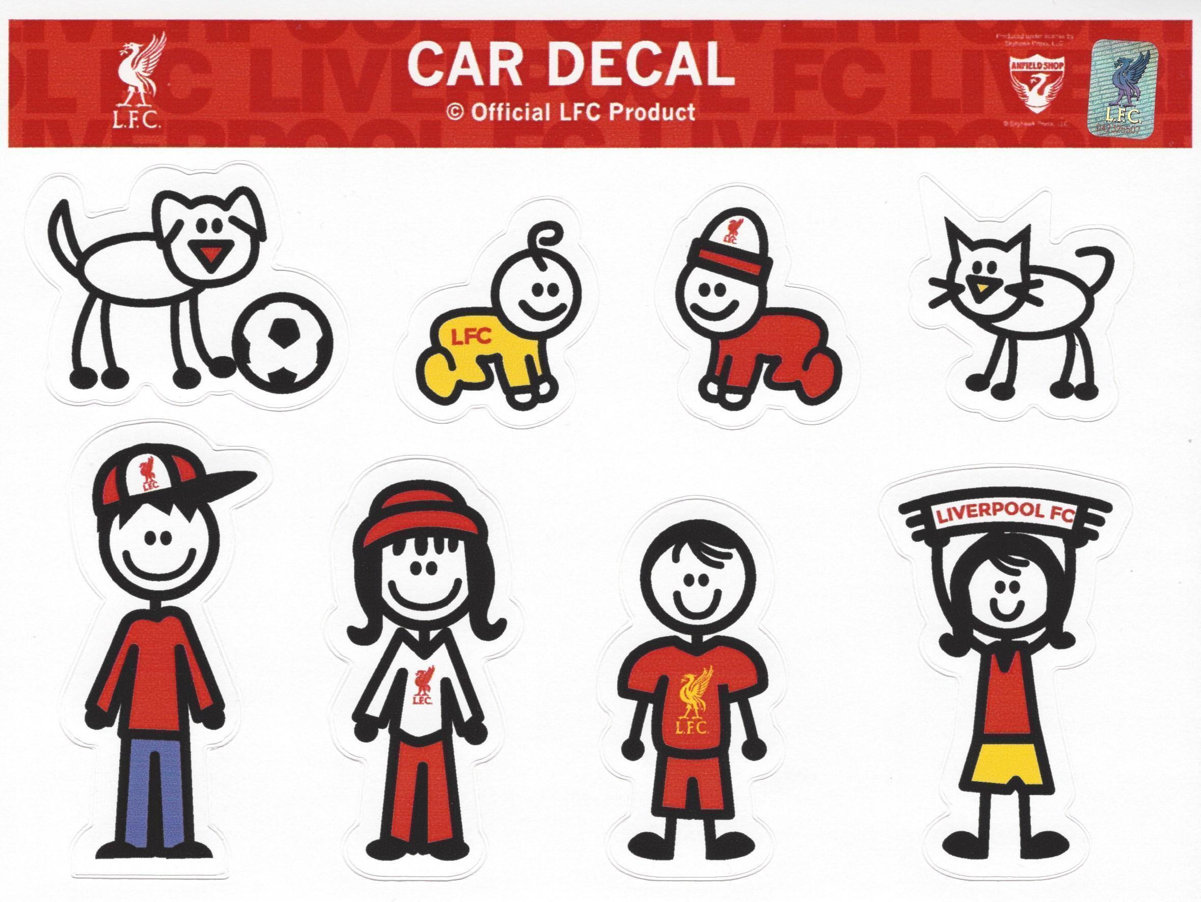 Liverpool FC Family Sticker Set 2
