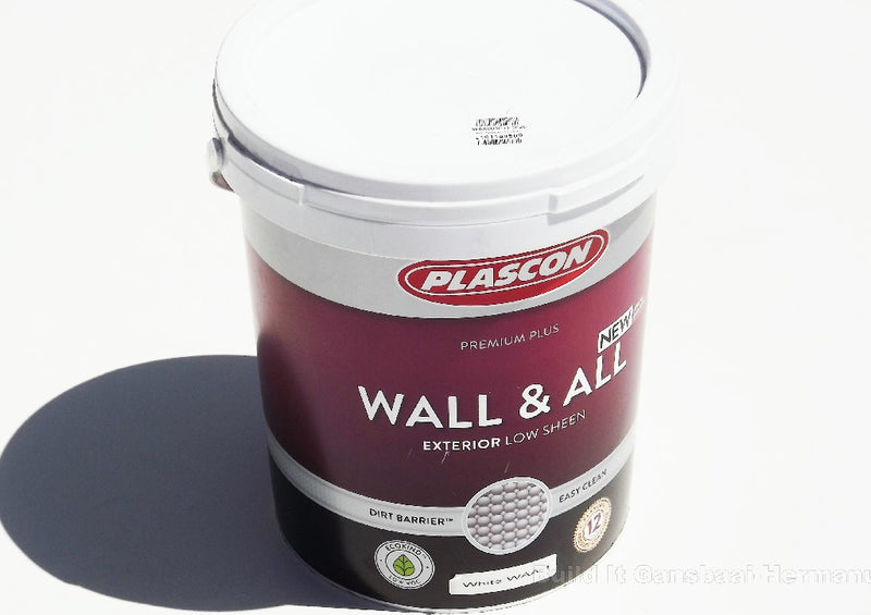 PLASCON WALL & ALL WHITE 20L