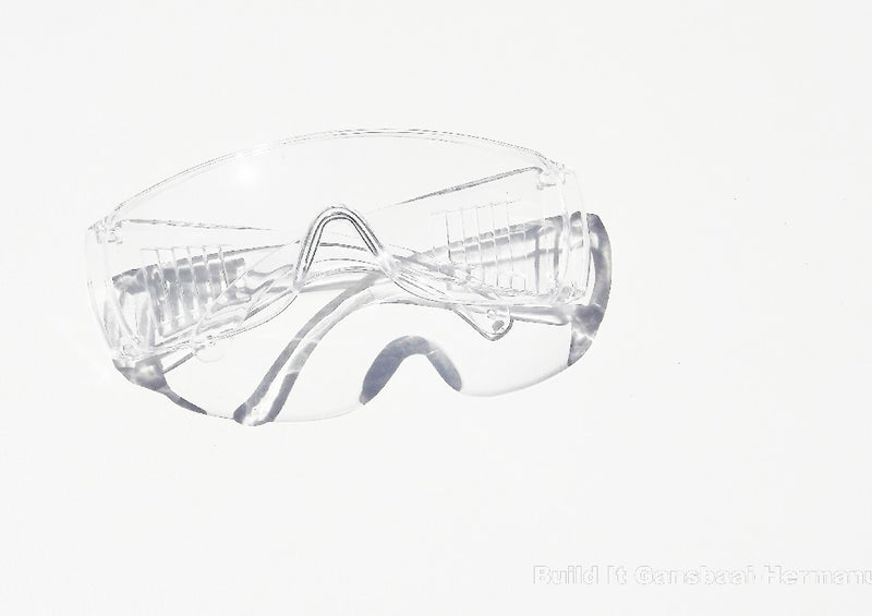 Matsafe Spectacle Sporty Wrap Around Safety Glasses - Clear