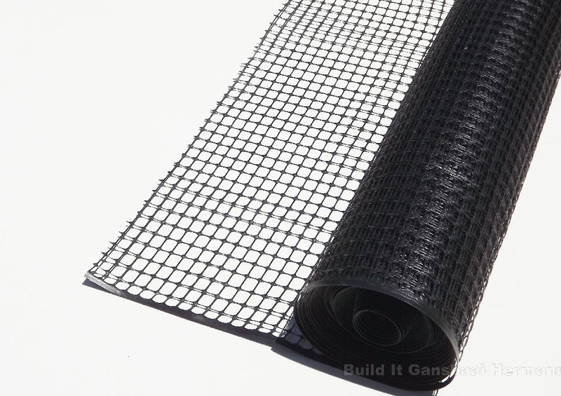 Netting Plastic Tremnet 25mm x 1000mm Black P/M