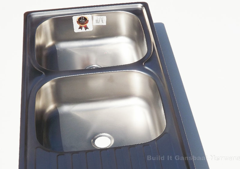 Drop In Double Sink - Stainless Steel