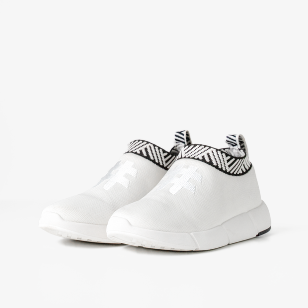 Women's Coffee Sneakers - Classic White