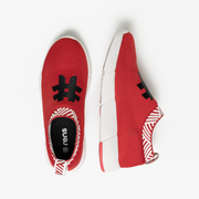 Men's Coffee Sneakers - Passion Red
