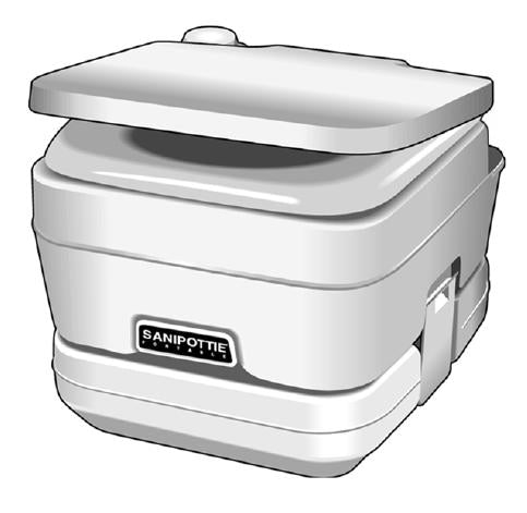 Dometic Sealand 301096202 SaniPottie 2.8 Gallon Portable Parchment Toilet Trailer Camper RV