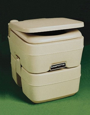 Dometic Sealand 301096606 SaniPottie 5 Gallon Portable Platinum Toilet Trailer Camper RV