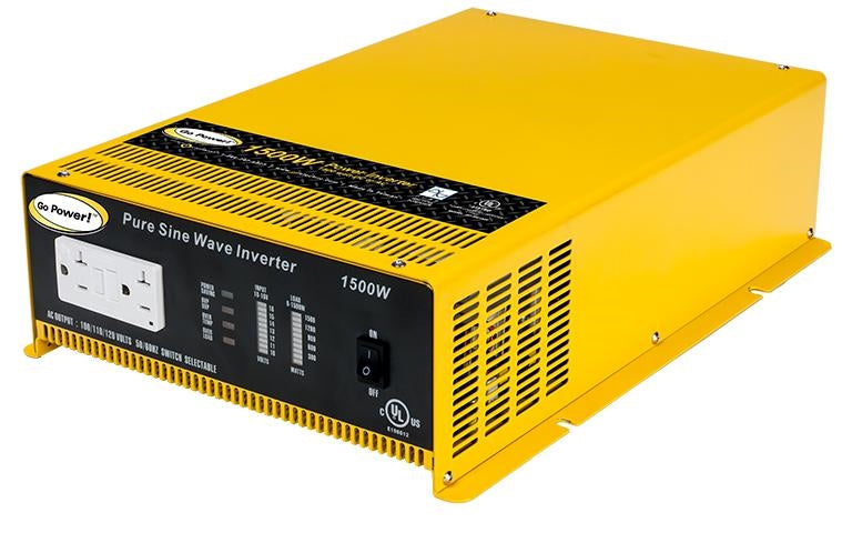 Go Power GP-SW1500-12 1500 Watt 12 Volt Pure Sine Wave Inverter