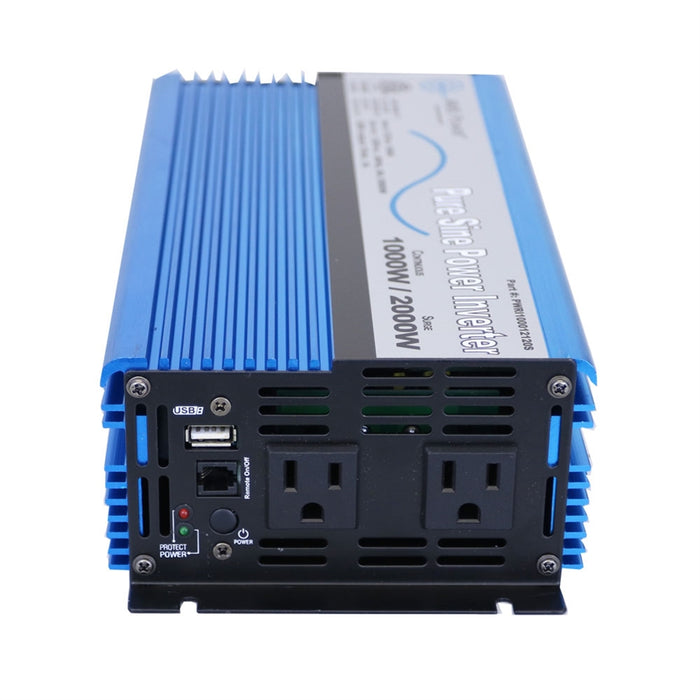AIMS Power 1000 Watt Pure Sine Power Inverter 12 Volt ETL Listed to UL 458