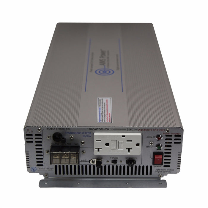 AIMS Power 3000 Watt Pure Sine Power Inverter - Industrial