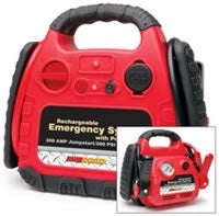RoadPro Rechargeable Emergency Jumpstart System with 12 Volt Power Outlet & Air Compressor