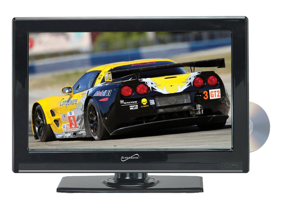 "Supersonic 22"" 12 Volt WIDESCREEN LED HDTV WITH BUILT-IN DVD PLAYER - Free Shipping"