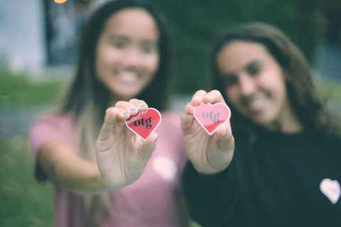 2 Heart Stickers