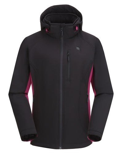 Women's Heated Jacket - Purple & Black