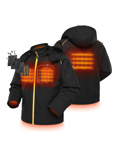 Men's Sports Heated Jacket - Black & Gold
