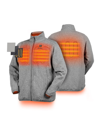 open-box men heated fleece jacket