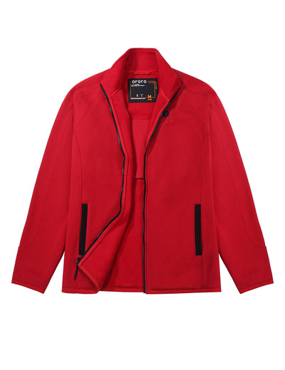 Men's Heated Fleece Jacket - Red
