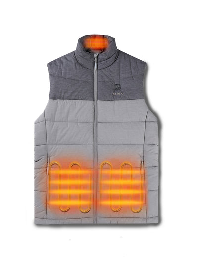 Men's Heated Padded Vest - Gray