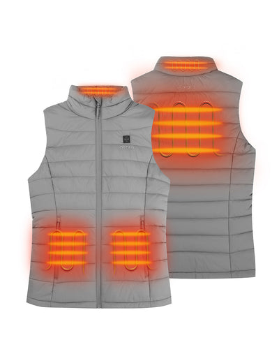 Women's Classic Heated Vest - Gray