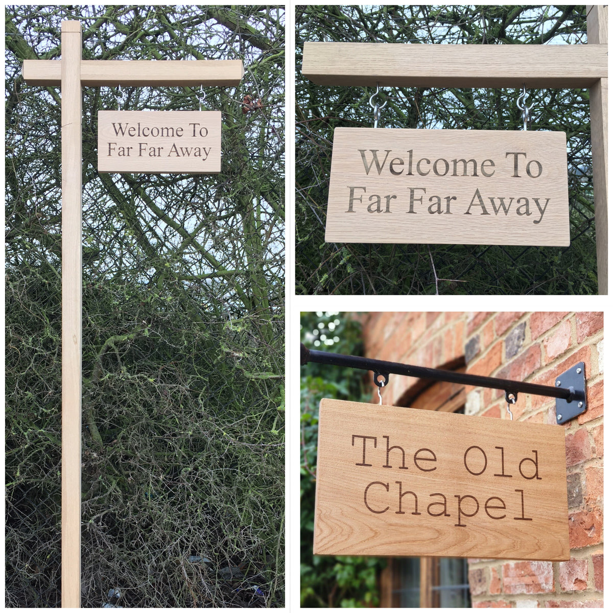 Oak Hanging Signs