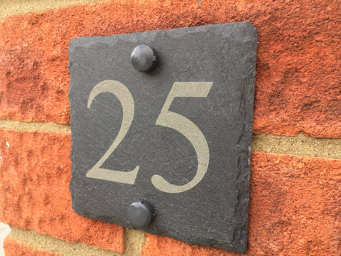 Engraved Slate Door Number Plaque