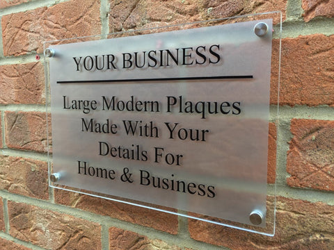 Glass Effect Business Plaque Sizes A6 - A1