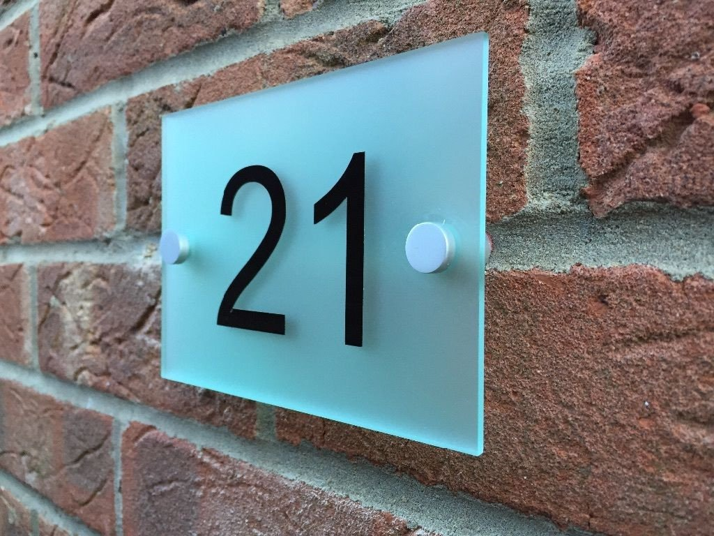 Frosted Acrylic Door Number Plaque