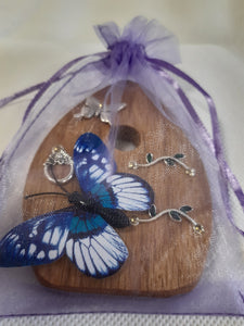 Fairy Door - Silver Butterfly
