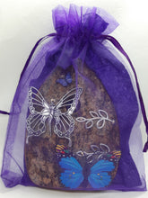 Load image into Gallery viewer, Organic Queen Fairy Door - Wings Open with Purple Butterfly