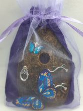 Load image into Gallery viewer, Organic Fairy Door - Turquoise Butterfly
