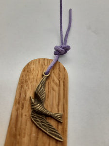 Wooden Bookmark - Cornish Oak - Beautiful Creatures - Bronze