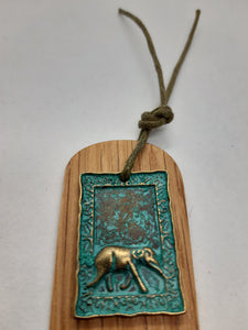 Wooden Bookmark - Cornish Oak - Bronze Patina