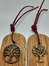 Load image into Gallery viewer, Wooden Bookmark Set of 2 - Cornish Oak  - Tree of Life