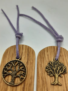 Wooden Bookmark Set of 2 - Cornish Oak  - Tree of Life