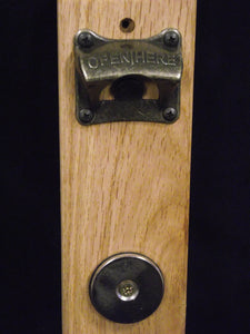 Bottle Opener - Wall Mounted with Magnetic Catcher