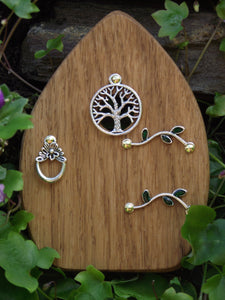 Wooden Fairy Door - Cornish Oak - Tree of Life