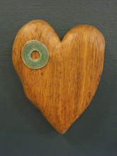 Load image into Gallery viewer, Wall Art - Heart #11 Brown Oak