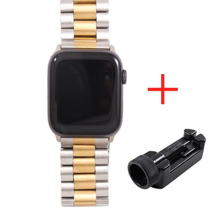 Band For Apple Watch 5 4 3 2 1 42mm 38mm 40MM 44MM Metal Stainless Steel Watchband Bracelet Strap for iWatch Series accessories