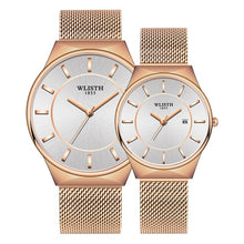 Load image into Gallery viewer, Couple Watch WLISTH Mens Watch Simple Luxury Quartz Wristwatch women Clock for Male Female Waterproof Lovers Thin Watch 2020