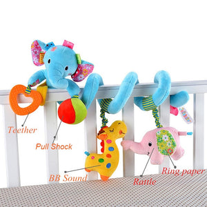 Baby Musical Mobile Toys for Bed/Crib/Stroller Plush Baby Rattles Toys for Baby Toys 0-12 Months Infant/Newborn Educational Toys