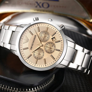Armani- Luxury Brand women quartz Watches men Watch Stainless Steel Strap wristwatch classic watch father gift 57 orders
