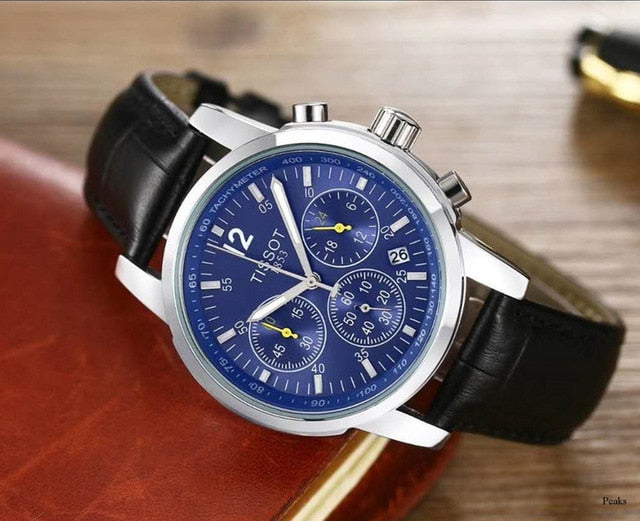 Tissot- Luxury Brand quartz women Watches Quartz Watch Stainless Steel Strap wristwatch classic business dress men watch 648