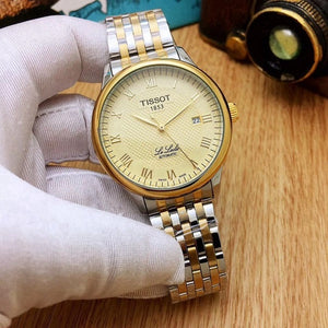 Tissot- Luxury Brand Mens Watches Mechanical Wristwatches Stainless Steel Strap men's wristwatch women classic business dress 13