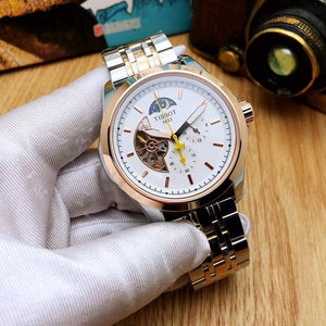 Tissot- Luxury Brand Mens Watches Mechanical Wristwatches Stainless Steel Strap men's wristwatch women classic business dress