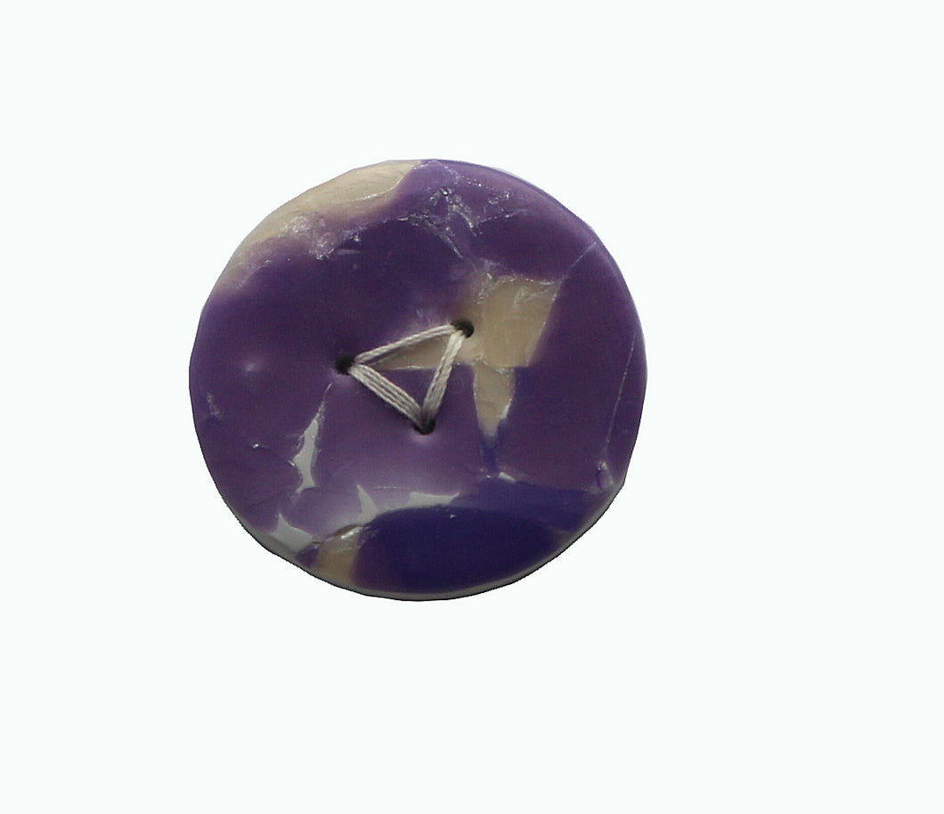 Buttons-Purple Amethyst Round