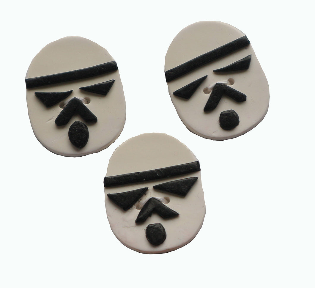 Buttons- 3 Stormtroopers