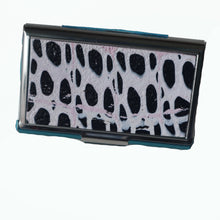 Load image into Gallery viewer, Stainless Steel Metal Credit Card & Business Card RFID Case- Black & White Dots