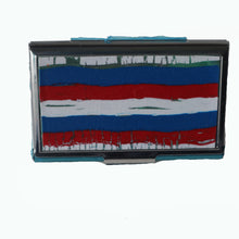 Load image into Gallery viewer, Stainless Steel Metal Credit Card & Business Card RFID Case-Red, White & Blue Stripes