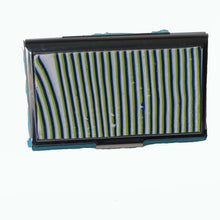Load image into Gallery viewer, Stainless Steel Metal Credit Card & Business Card RFID Case-Green, White & Blue Stripes