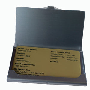 metal business card case- opened