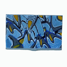 Load image into Gallery viewer, metal business card case- blue & yellow